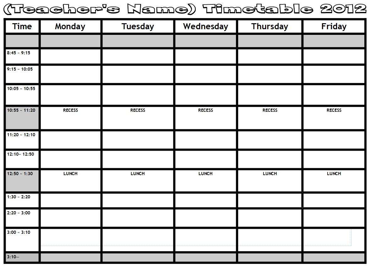 Doc28641990 Word Timetable Template Timetables as free – Microsoft Timetable Template
