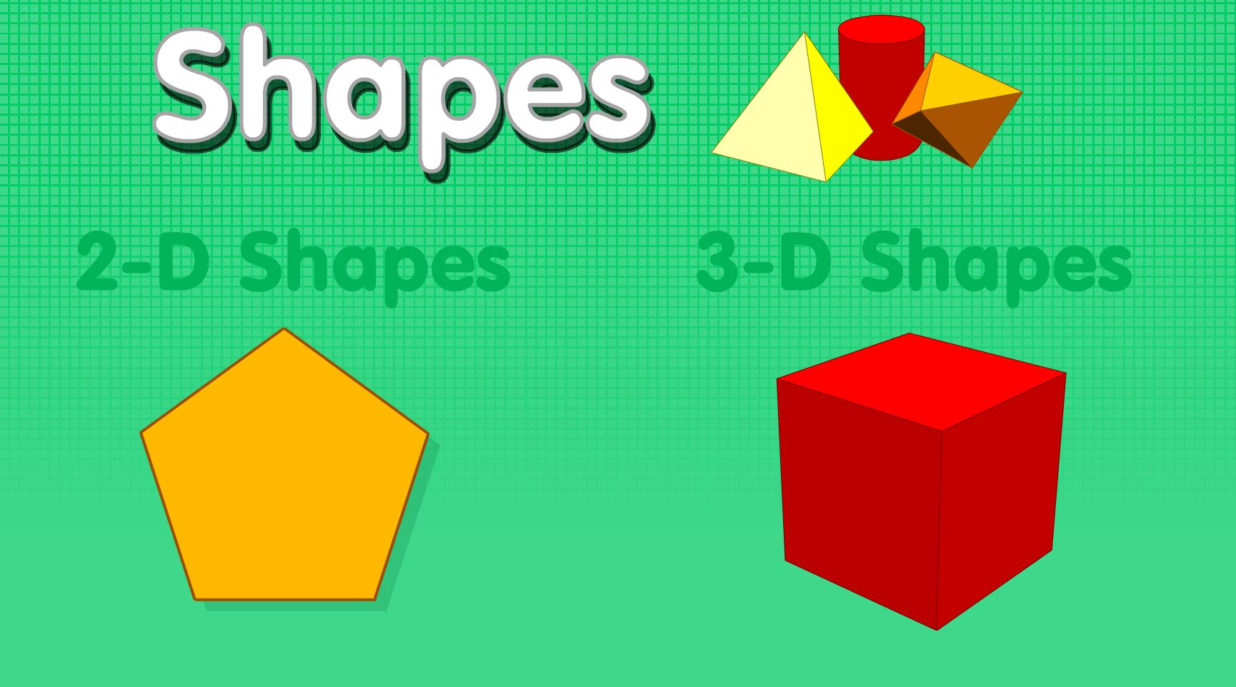 Shapes 2d and 3d shapes