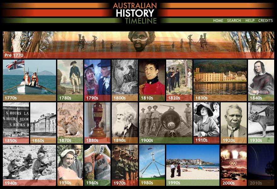 Photo of Australian History Timeline
