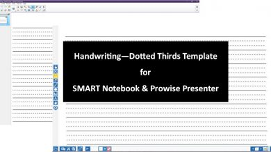 Photo of Handwriting Dotted Thirds Download for SMART Notebook and Prowise Presenter