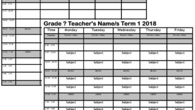 Photo of Teacher / Classroom Timetable Template