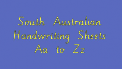 Photo of South Australian Handwriting Sheets Aa to Zz