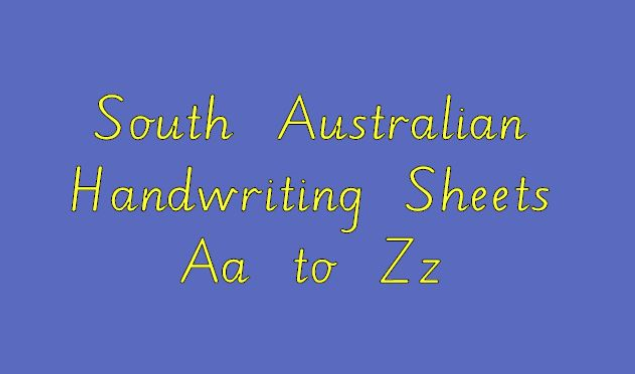 South Australian Handwriting Sheets Aa to Zz - primaryedutech com
